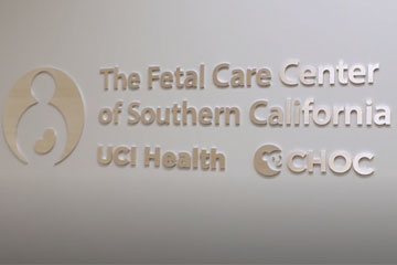 The Fetal Care Center of Southern California sign
